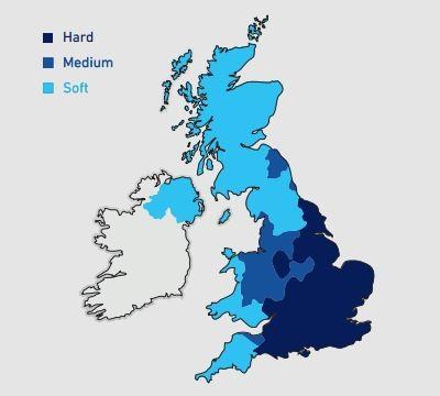 Billi Hard Water Map