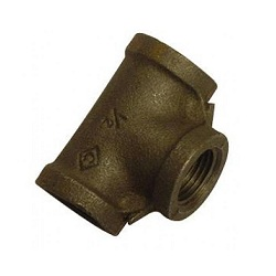 Black Malleable Iron Equal Tees