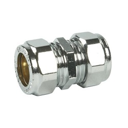 Chrome Compression Straight Couplers