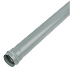 FloPlast 110mm Socket Soil Pipe Grey