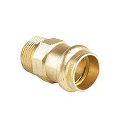 B Press Gas Straight Male Connector