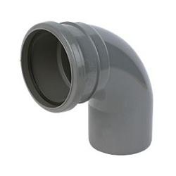 FloPlast 110mm Single Socket Bends Grey