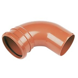 FloPlast Drainage Single Socket Bends