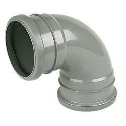 FloPlast 110mm Double Socket Bends Grey