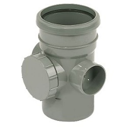 FloPlast 110mm Access Fittings Grey