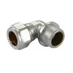 Chrome Compression Male Iron Elbow