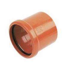 FloPlast D124 110mm Underground Drainage Single Socket Coupler