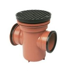 FloPlast D540 110mm Underground Drainage Bottle Gully Circular Top Back Inlet