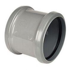 FloPlast SP105G 110mm Ring Seal Double Socket Coupler Grey