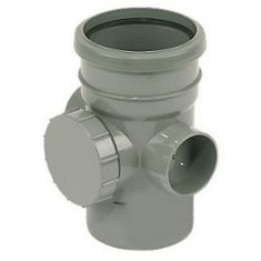 FloPlast SP274G 110mm Ring Seal Access Pipe Grey