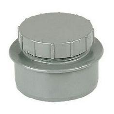 FloPlast SP292G 110mm Ring Seal Screwed Access Cap Grey