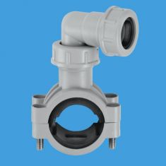 """McAlpine CLAMP1GR 1¼""""/1½"""" Pipe Clamp For Boiler Condenstate Discharge Grey"""
