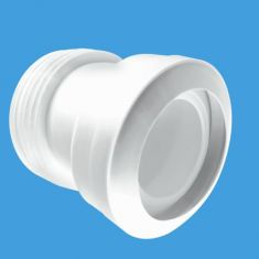 """McAlpine MAC-7A MACFIT 14° Angle Pan Connector 4""""/110mm Outlet"""