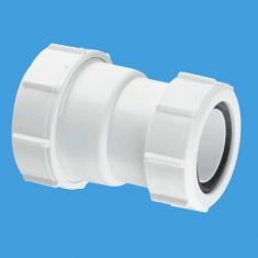 """McAlpine ST28L-ISO 1¼"""" x 40mm European Pipe Size Straight Connector"""