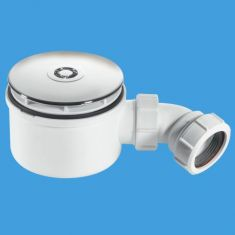 """McAlpine ST90CP10-70 1½"""" x 90mm Shower Trap Chrome Plastic 50mm Water Seal"""