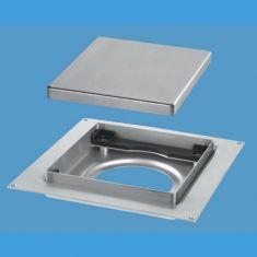 McAlpine TILE-PLAIN-B 150mm Tile Drain Plain Brushed Stainless Steel