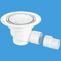 McAlpine TSG1-WH 75mm Water Seal Sheet Floor Trapped Gully White