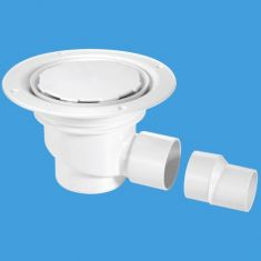 McAlpine TSG1WH-NSC 75mm Water Seal Sheet Floor Trapped Gully White