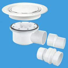 McAlpine TSG52WH-NSC 50mm Water Seal Two Piece Sheet Floor Trapped Gully White
