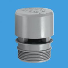 "McAlpine VP1 Ventapipe 25 Air Admittance Valve With 1½"" BSP Thread On Outlet Grey"