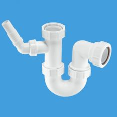 """McAlpine WM14 1½"""" Sink Trap With 135° Nozzle 75mm Water Seal"""