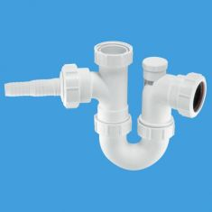 """McAlpine WM2V 1½"""" Anti-Syphon Sink Trap With Horizontal Nozzle 75mm Seal"""