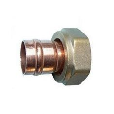 """Solder Ring 22mm x 1"""" Straight Cylinder Union"""