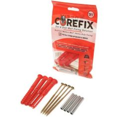Corefix Red Heavy Duty Dot & Dab Wall Fixing Pack of 4